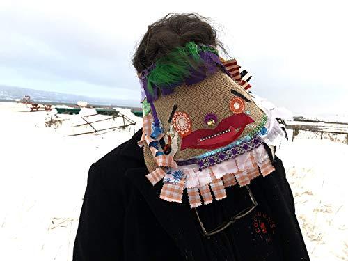 Cajun Courir de Mardi Gras Mask, traditional Mardi Gras costume, Handmade, Creepy, Burlap, Adult, Halloween, carnival, masquerade mask ()