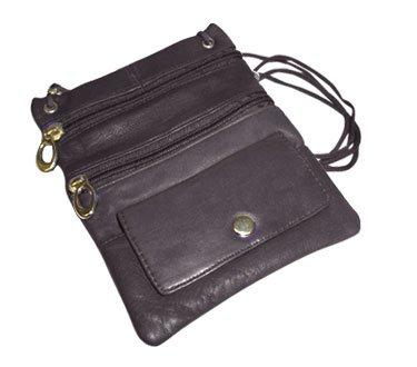 Avenue Leather Handbag (MW510-BK New Genuine Leather Travel Purse General Purpose Shoulder Black Bag)