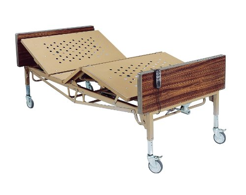 15300BV-PKG - Drive Medical Full Electric Bariatric Hospital Bed with Mattress and 1 Set of T Rails