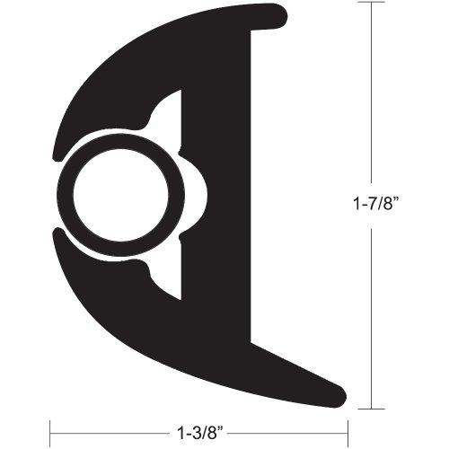 1 - TACO Flex Vinyl Rub Rail Kit - Black w/Black Insert - 70' - 1-7/8