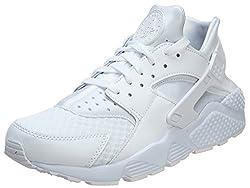 Nike Men's Air Huarache Whitewhitepure Platinum Running Shoe 9.5
