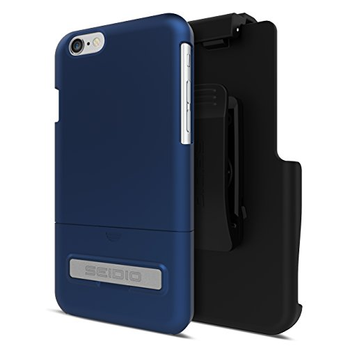 Seidio Innocase Surface Case - Seidio SURFACE with Metal Kickstand Case & Belt-Clip Holster for iPhone 6 ONLY [Slim Case] - Retail Packaging - Royal Blue