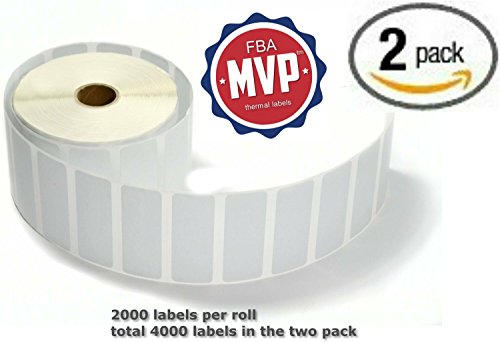 FBAMVP 4000 Self Adhesive Thermal Labels, 1x2.6-Inch, 2 Packs