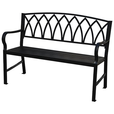 Prime Amazon Com Kirby Built Products Arch Back Metal Bench 4 Bralicious Painted Fabric Chair Ideas Braliciousco