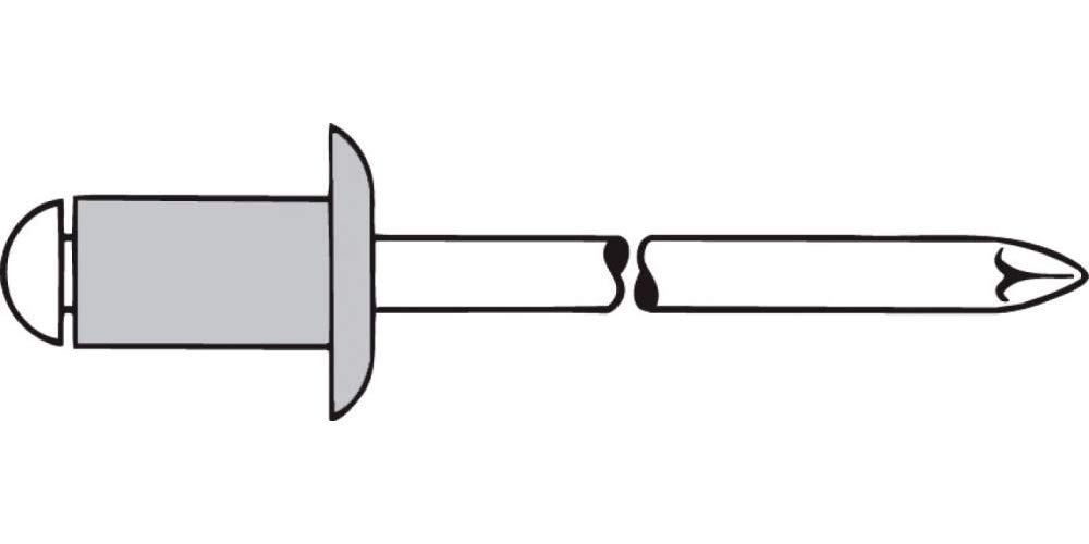 Gesipa 0/2900/000/4,0/14/ /01 Blindniete Alu/Stahl Standard (Flachkopf), 4 x 14, 500 Stü ck 0/2900/000/   4 0/   14/     /01