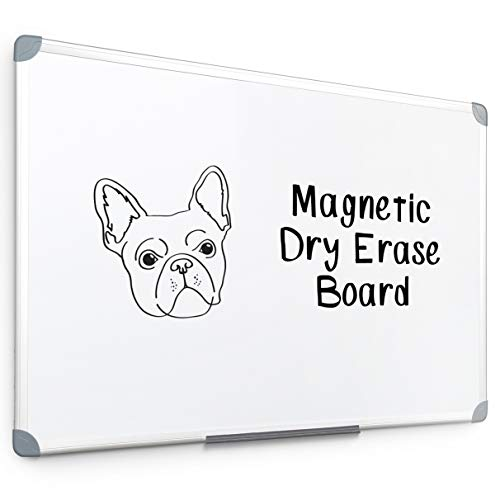 Blue Summit Supplies 24 x 36 Magnetic Whiteboard with Aluminum Frame, Easy Erase Melamine Dry Erase Surface, Detachable Marker Tray, E-Commerce Friendly Packaging ()