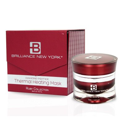 Brilliance New York - Ruby Collection Thermal Heating Mask, Infused with Rubies and Natural Botanicals from Honey and Apples, 1.69 fl oz (50 (Brilliance Treatment Mask)