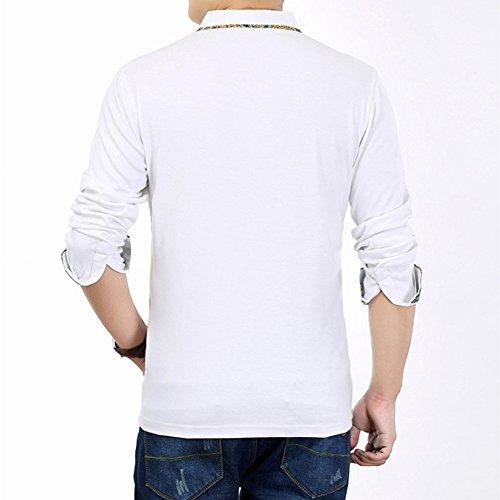 YFFUSHI メンズ ポロシャツ tシャツ ゴルフウェア 長袖 全10色 M-3L 無地 綿 カジュアル お洒落 正規品 上質 フォーマル 大きいサイズ