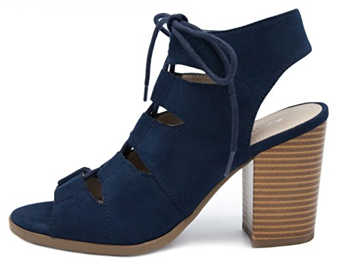 Heeled Micro Women's Rampage Emmie Navy Sandal x1w07RfqT