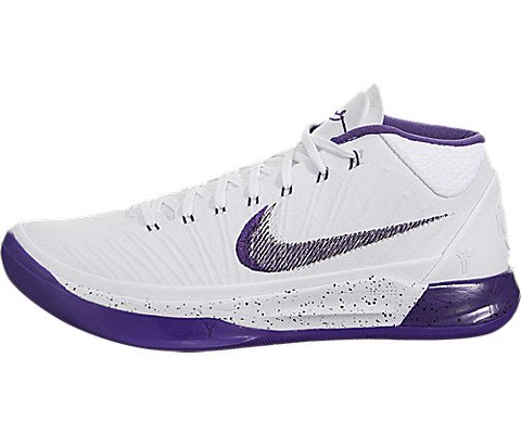Purple Basketball Shoe - Nike Men's Kobe A.D. Basketball Shoes (12 D(M) US, White/Court Purple-Black)