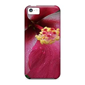 Awesome Case Cover/iphone 5c Defender Case Cover(dark Pink Hibiscus)