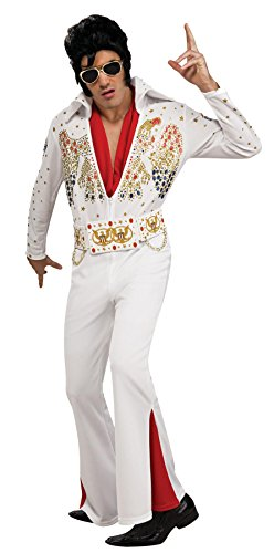 Deluxe Elvis Costume - Small - Chest Size 36 (Elvis White Jumpsuit)