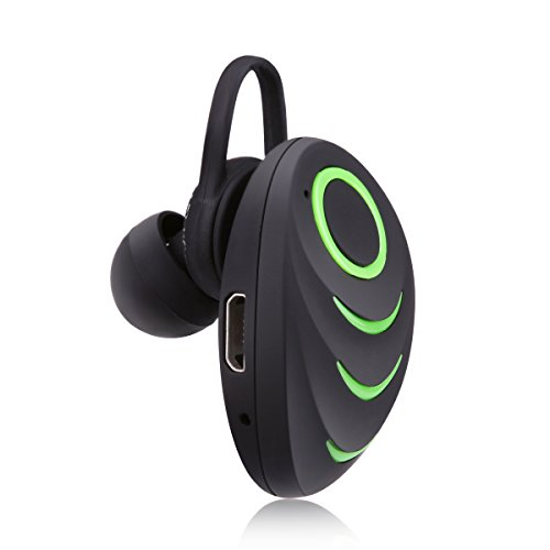 Mini Car Calls Wireless Invisible Headphone Bluetooth 4.0 Single Earbud Noise Canceling Earphone with Mic Sports Long Standby Earphone for Phone ()