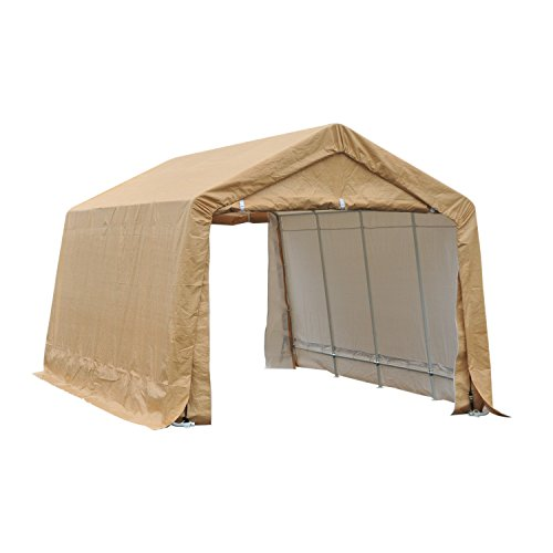 Outsunny 17' x 10.5' Heavy Duty Enclosed Vehicle Shelter Carport - (Vehicle Shelter)