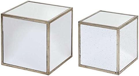 2 mesas anidadas cubos, madera y espejo: Amazon.es: Deportes y ...