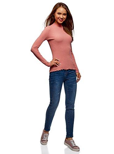 4b00n Coste Sulle A Donna Maniche Bottoni Maglione Rosa Ultra Con Oodji Dolcevita 7WPqXfA