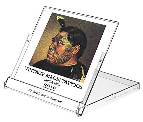 (Ars Antigua 2019 Vintage Maori Tattoos • CD-Style Desk Calendar (Jan. 1, 2019 - Dec 31, 2019))