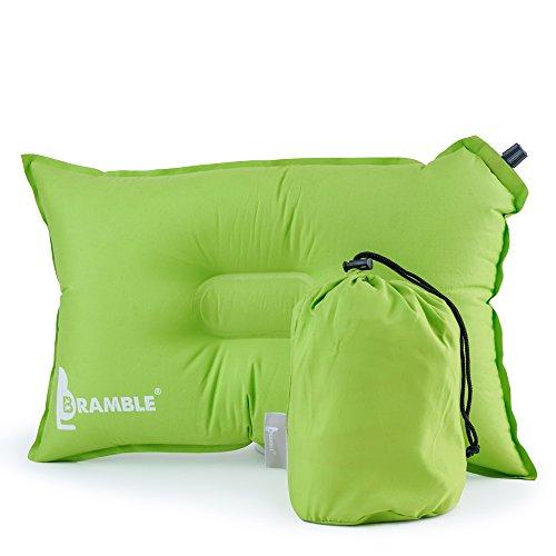 Bramble Camping Kissen - Reisekissen aus weichem Material, selbstaufblasend - Grün