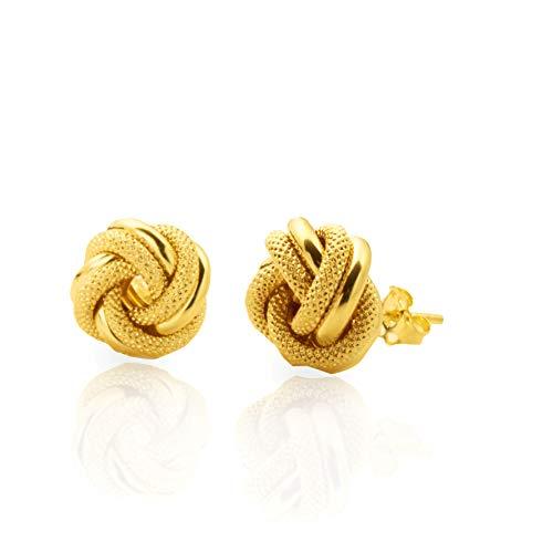 (LoveBling 10k Yellow Gold Love Knot Stud Earrings (0.2
