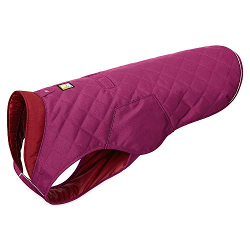 (RUFFWEAR - Stumptown Insulated, Reflective Cold Weather Jacket for Dogs, Larkspur Purple, Medium)