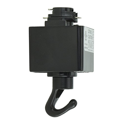 Direct-Lighting H System Track Adapter with Hook H870-BK (BLACK)
