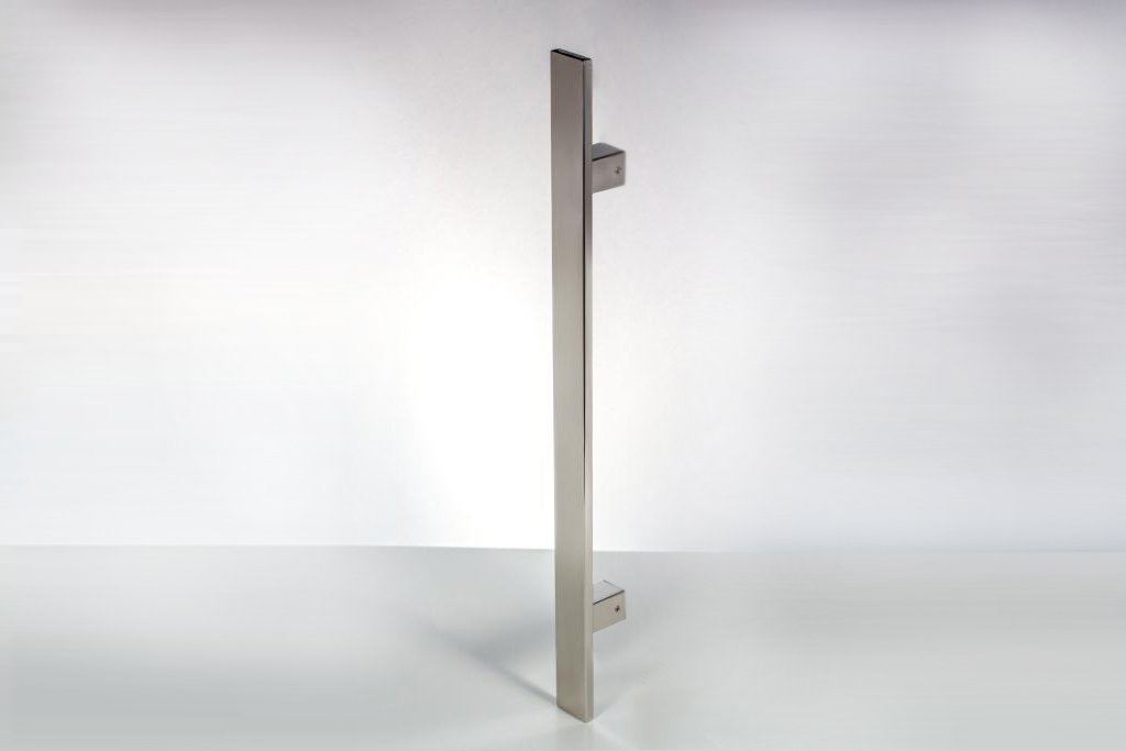 Modern Contemporary 12 inches Square Rectangle Flat Stainless-Steel Door Handle Pull Shower Glass Barn Entry Exterior Interior Gate Entrance Sliding Towel Bar Cabinet Mirror-Polished(Chrome Finish) by KeyTiger Door Pulls & Handles (Image #4)