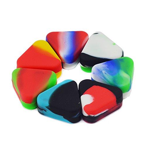 Eoozon 1.5ml Triangle Shape Non-stick Silicone Jars Dab W...