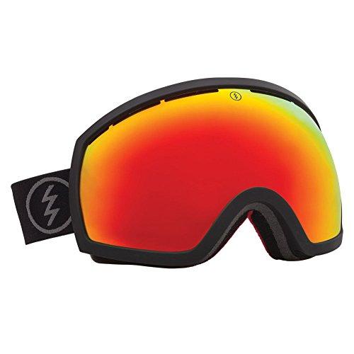 Electric Snowboard Eg2 Goggles (Electric Eg2 Solar Black Red Mirror Oversized Ski Snowboard Goggles)