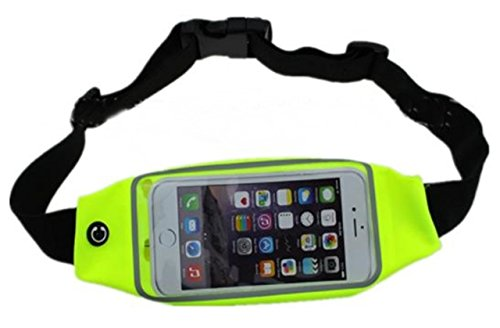 SOURIRE SUMMIT Running Belt Waist Pack for Phone and Keys (Yellow)