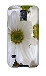 Ultra Slim Fit Hard ZippyDoritEduard Case Cover Specially Made For Galaxy S5- White Lilys