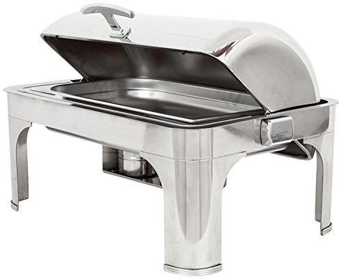 Buffet Enhancements 010YC5 Rectangular Classic Empire Style Chafing Dish, 8 quart, Stainless Steel by Buffet Enhancements