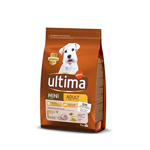 Ultima Pienso para Perros Mini Adult con Pollo y Arroz, 3 kg