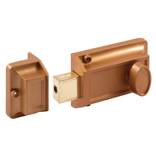 Prime Line U 9956 Single Cylinder Rim Dead Latch, Brass P...