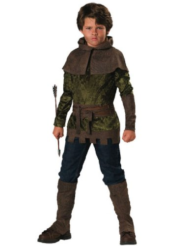 InCharacter Costumes, LLC Boys 2-7 Robin of Nottingham Tunic Set, Forest Green, Size (Robin Hood Tunic)