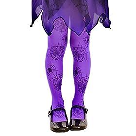 - 413nTXOTT1L - Purple Mid-Rise Spider Webs Halloween Children's Cosplay Costume Tights