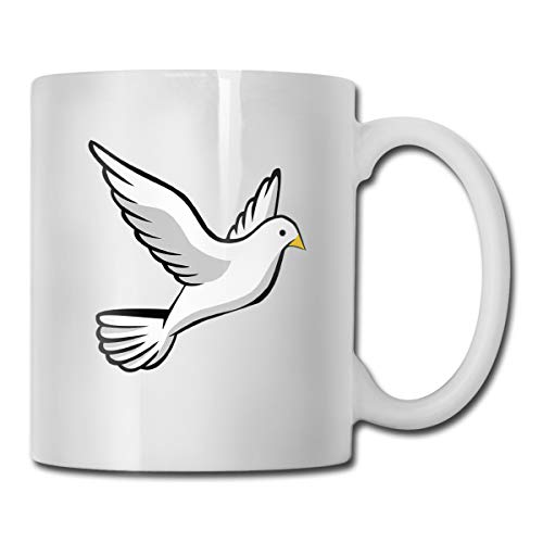(Pigeons Portable Classic Ceramic Mug Coffee Cup Travel Mug 11 Ounce)
