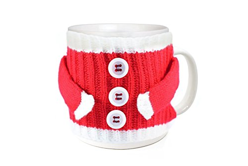 Christmas Holiday Mug (Funny Winter Christmas Holiday Cozy Knitted Tea and Coffee 11 Oz Santa Sweater Gift Ceramic Mug)