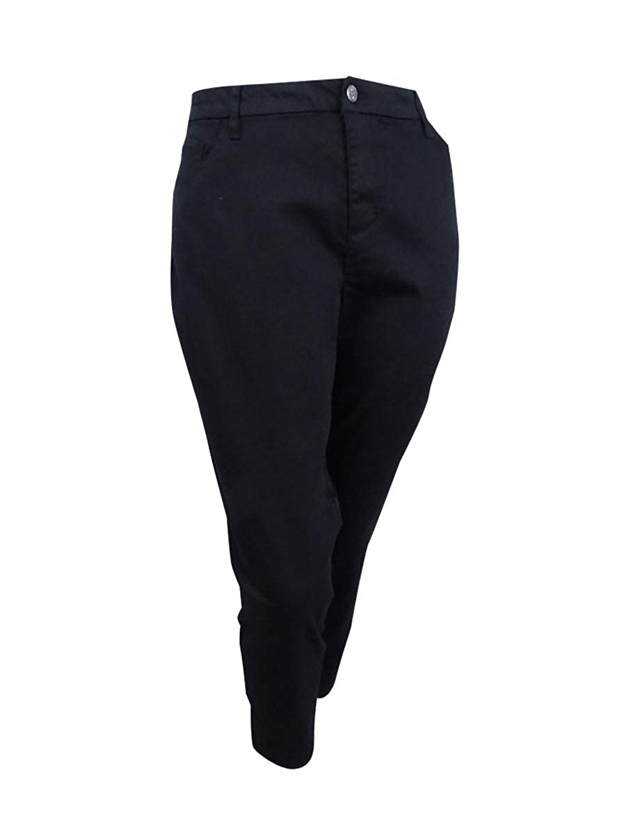 Style /& Co Womens Plus Mid-Rise Colored Straight Leg Pants