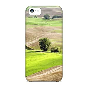 Iphone Cover Case - Cultivated Lscape In Summer Protective Case Compatibel With Iphone 5c