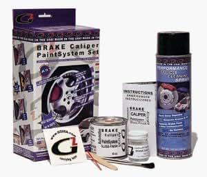 Orange High Temperature High Gloss Self Leveling Brush On Orange G2 Brake Caliper Paint System Kit