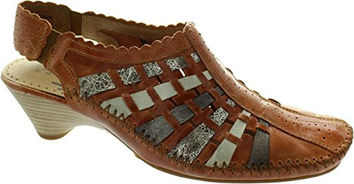 Jana 8-29505-28, Scarpe col tacco donna marrone Brown