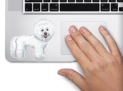 - Dog bichon frise 3.5x3.6 inches sticker decal die cut vinyl - Made and Shipped in USA