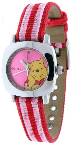 Fun Disney Ladies Lorus Quartz Pooh Canvas Band Watch New Old Stock