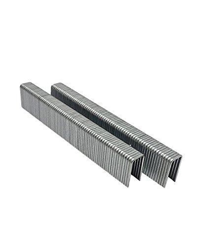 """5000 Pcs 5/8″ Long x 1/4″ Galvanized Steel Wire""""L"""" Staples, Pins 18-Gauge Nerrow Crown Staples, For Stapler Gun, Hitachi, Senco, Porter Cable, etc. Air Tool Super-Deals-Shop"""