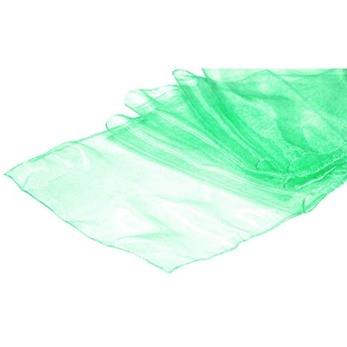 (VDS - 10 PCS 12 x 108 inch Organza Table Runners for Wedding Banquet Decor Runners for Table – Mint)