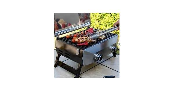 Nexgrill 2, Grill de Alta calidad, quemador de acero inoxidable de grado 304, 48 cm, gas, Barbacoa de mesa : Amazon.es: Jardín