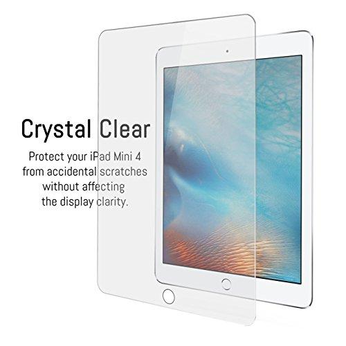 Orzly® - Protector de Pantalla de Prima de Cristal Templado (0,24mm) para Apple iPad MINI 4 (2015 Modelo Tablet) - Transparent