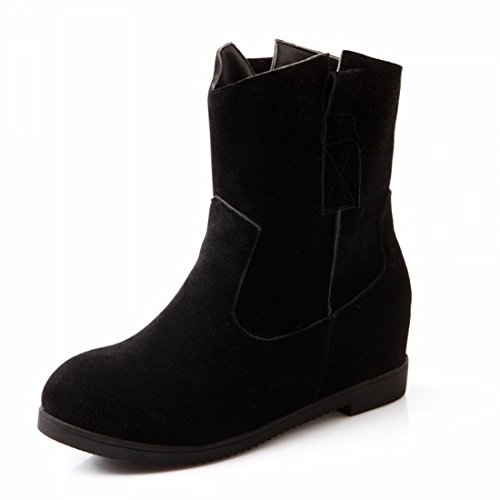 The increase in autumn and winter fashion shoes boots all-match student girl Ma Dingxue Black (Terry) 6sX1fTRU3
