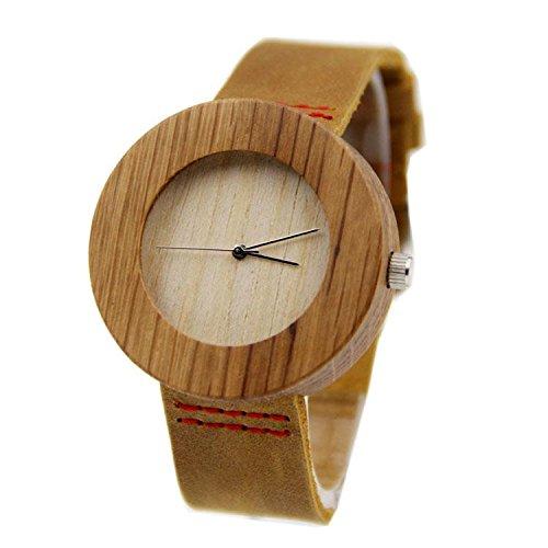 Biao&MZ Nuevo reloj / Unisex / ocio y negocio / natural de la madera / bambú / reloj de pulsera / cuero la correa / de regalo / usable / accesorios , 01