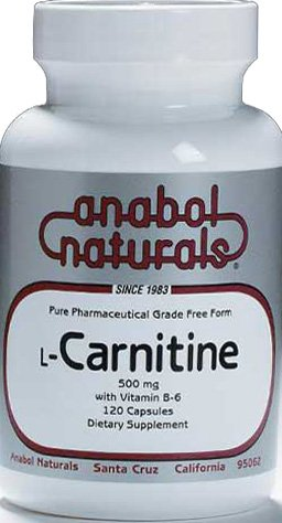 ANABOL NATURALS L-Carnitine 500mg 30 CAPS For Sale